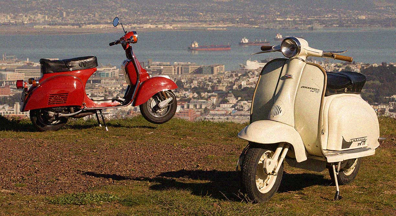 Buổi test scooter thập niên 1960